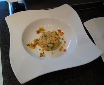 Scampi met couscous en zuiderse groentjes 7