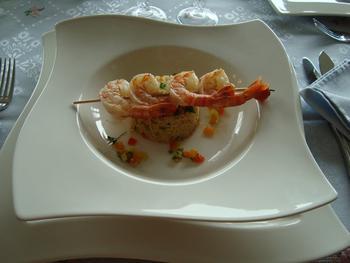 Scampi met couscous en zuiderse groentjes 8