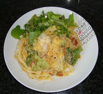 Spaghetti alla carbonara met broccoli 5
