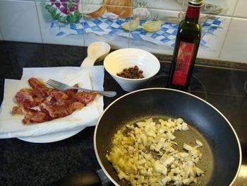 Spirelli met ontbijtspek, venkel en curry 6