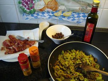 Spirelli met ontbijtspek, venkel en curry 7