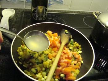 Tagliatelle of penne met aubergine, courgette en tomaat 7