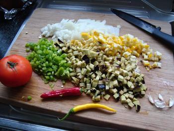 Vegetarische, mediterraanse risotto 3