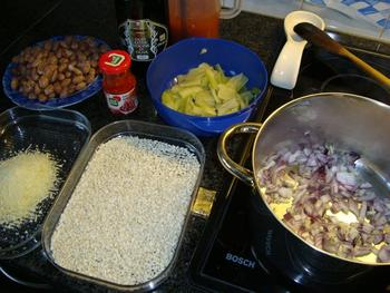 Vegetarische risotto met borlottibonen 2