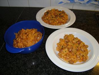 Vegetarische risotto met borlottibonen 6