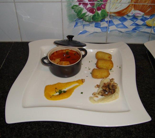 Fazantenragout met zalfjes van pastinaak en pompoen 1