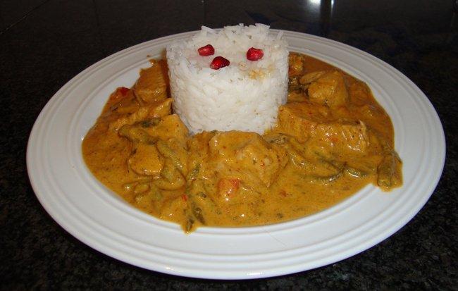 Kalkoen met rode currypasta 1