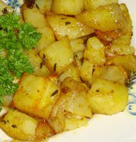 Oven gebakken aardappelblokjes 1