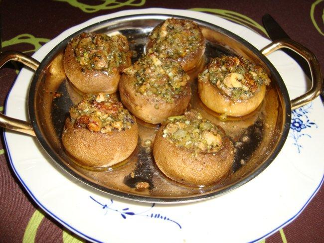 Ovenschotel: gevulde champignons met pesto 1