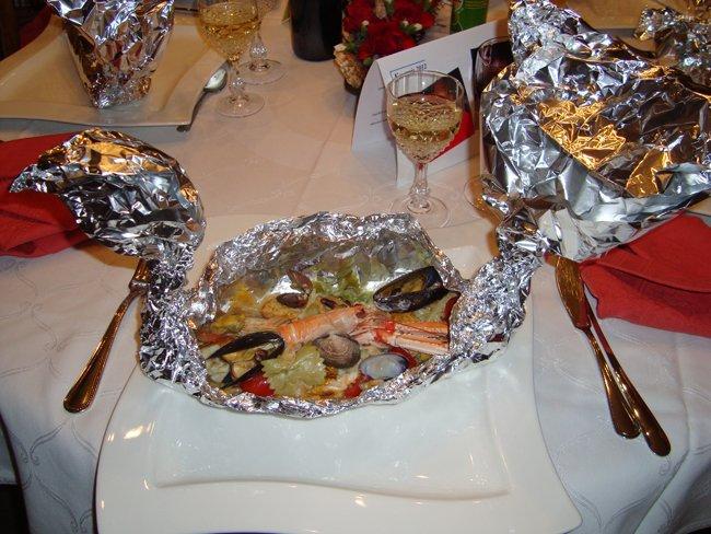 Pasta marinara in zwanenpapillot 1