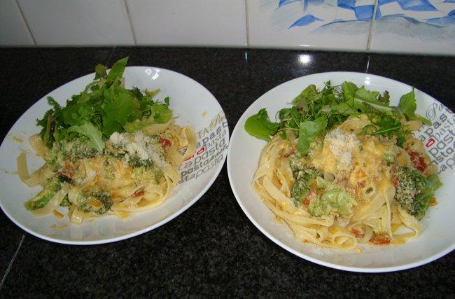 Spaghetti alla carbonara met broccoli 1