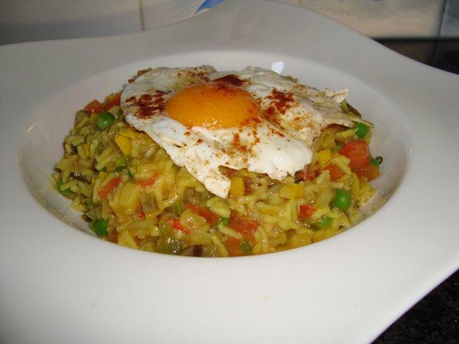 Vegetarische, mediterraanse risotto 1