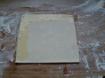 Abrikozenflap of driehoek van schilferdeeg 2