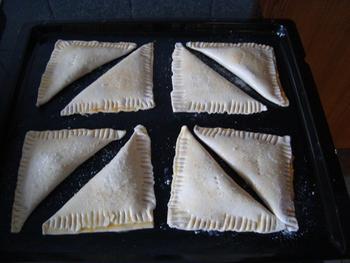 Abrikozenflap of driehoek van schilferdeeg 5