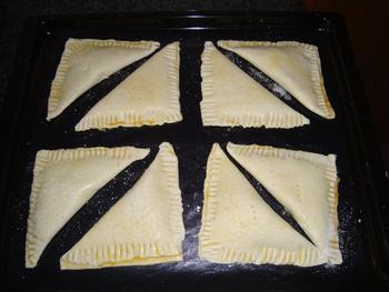 Abrikozenflap of driehoek van schilferdeeg 6