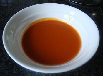 Borrelglaasje met paprikasaus en grijze garnalen 6