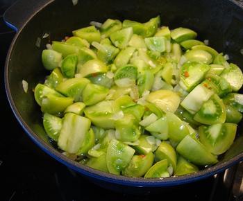 Chutney van groene tomaten 7