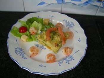 Couscous met grote garnalen en gerookte zalm 2
