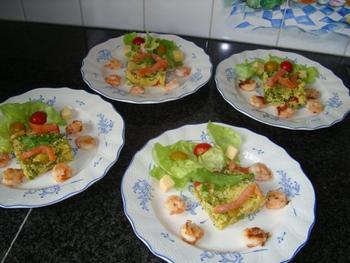 Couscous met grote garnalen en gerookte zalm 5