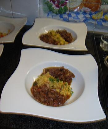 Everzwijnragout met paddenstoelen en risotto 6