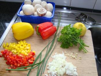 Gestoofde champignons met eieren 2