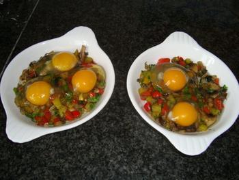Gestoofde champignons met eieren 7