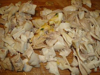 Kippenbillen met bospaddenstoelen 3