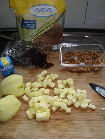 Meergranenbrood met appel, rozijnen, noten en speculaaskruiden 2
