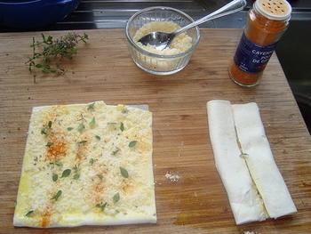 Palmiers met kaas en tijm 3