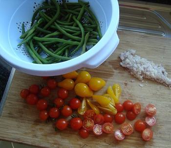 Prinsesboontjes met tomaat en gelakte varkenskotelet 2