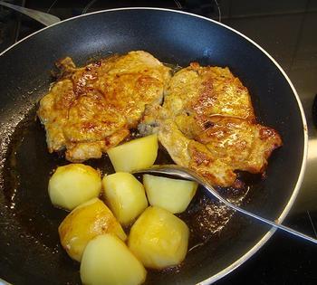 Prinsesboontjes met tomaat en gelakte varkenskotelet 7