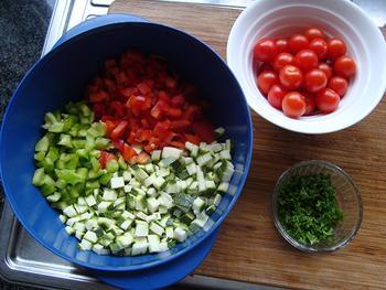 Risotto met zeevruchten en Mediterane groentjes 2