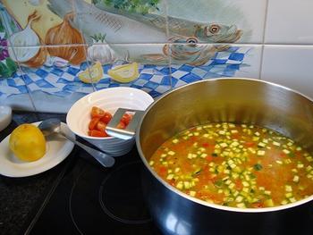 Risotto met zeevruchten en Mediterane groentjes 7