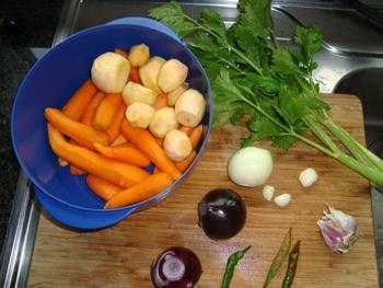 Soep van raapjes en wortelen 3
