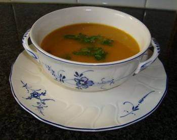 Soep van raapjes en wortelen 6