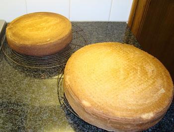 Verjaardagstaart met mascarponemousse en macarons 5