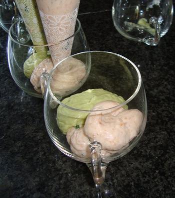Vismousse met avocadomousse 9