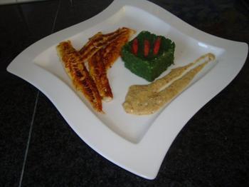 Zeetong met boerenkool (kale of krulkool) en mosterdsaus 6
