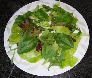 Zomerse salade met mozarella en merguez 3