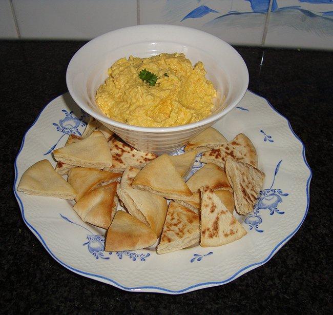 Dipsaus met wortelen en kaas 1