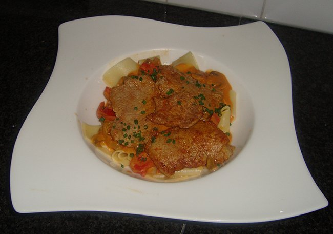 Pasta met rundfilet en stroganoffsaus 1