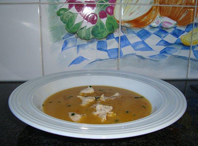 Pittige rode linzensoep met kip 1