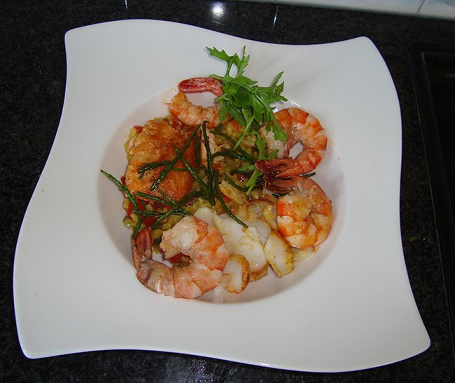 Risotto met zeevruchten en Mediterane groentjes 1