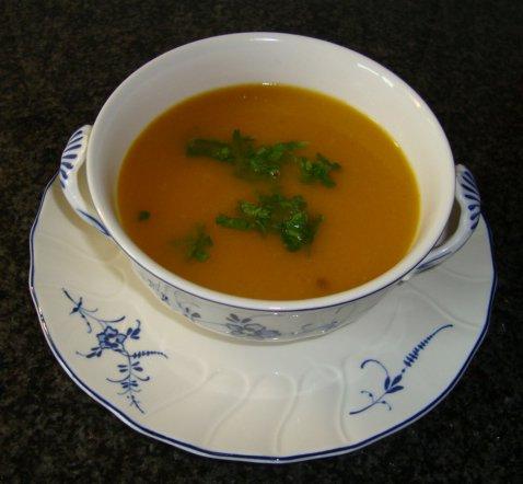 Soep van raapjes en wortelen 1