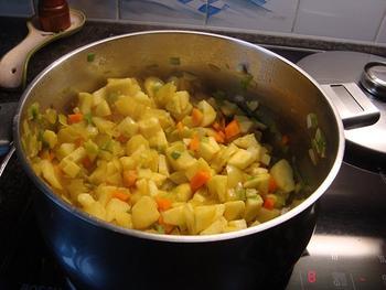 Appelsoep met kerrie en kippenreepjes 3