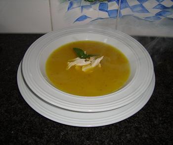 Appelsoep met kerrie en kippenreepjes 4