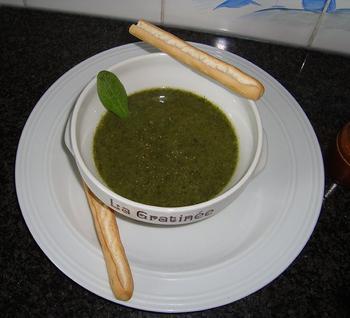 Broccoli - spinaziesoep 5