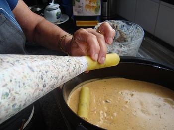 Cannelloni gevuld met garnalen en champignons 8