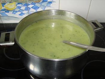 Courgettesoep met kervel 2