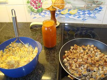 Gehakt parmentier met wortelen en tomatensaus 5